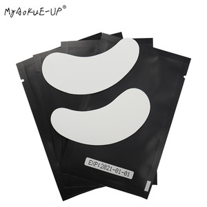 Image 2 - 1000 pairs Eyelashes Paper Patches Tips Sticker Wraps Under Eye Pads Black Package For Makeup Tools Eyelash Extension