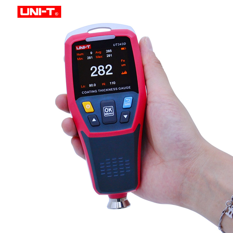 Image 2 - Thickness Gauge UNI T UT343D  Digital Coating Gauge Meter Cars Paint Thickness Tester  FE/NFE measurement with USB Data FunctionWidth Measuring Instruments   -