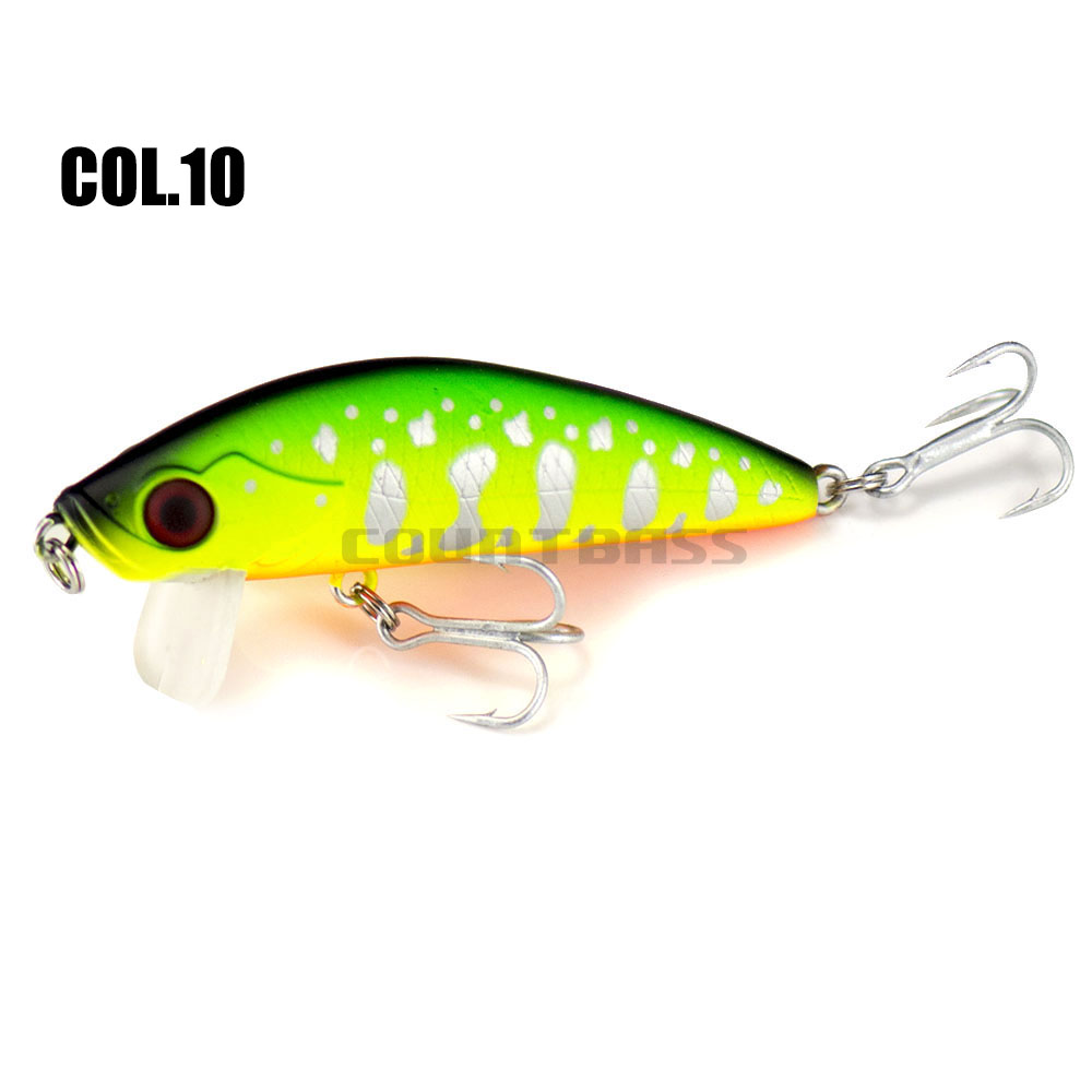 66mm 6g Countbass Floating Minnow Wobblers Lures for Fishing, Bass Salmon Trout Fishing Chatterbait Jerk Your bait Crank Shad-4