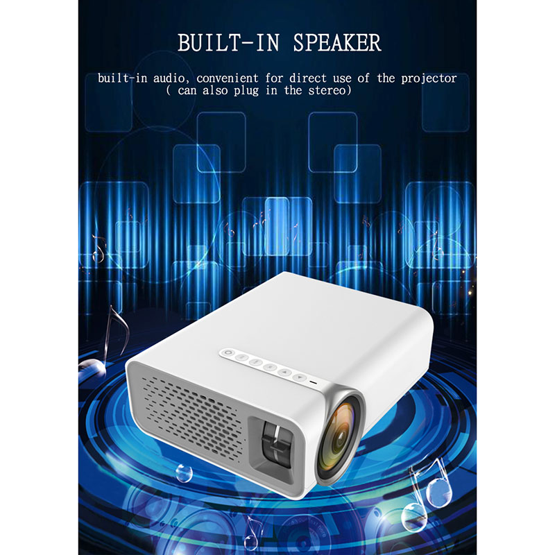 LED Projector HD 1080P Mini Home Theatre Movie Beamer HDMI USB VGA AV For Computer XXM8 uc40 55whd 1080p mini home 1080p led projector 50lm w hdmi av sd usb