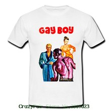 952553605f8 Gay Boy Gay Lesbian Cool Kinky Quirky White Mens Retro Vintage T-shirt Tee  Different