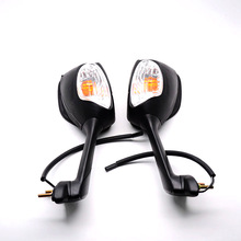 For Suzuki GSXR600 GSXR750 GSXR1000 Motorcycle ABS LED Turn Signal Integrated Side Rearview Mirrors