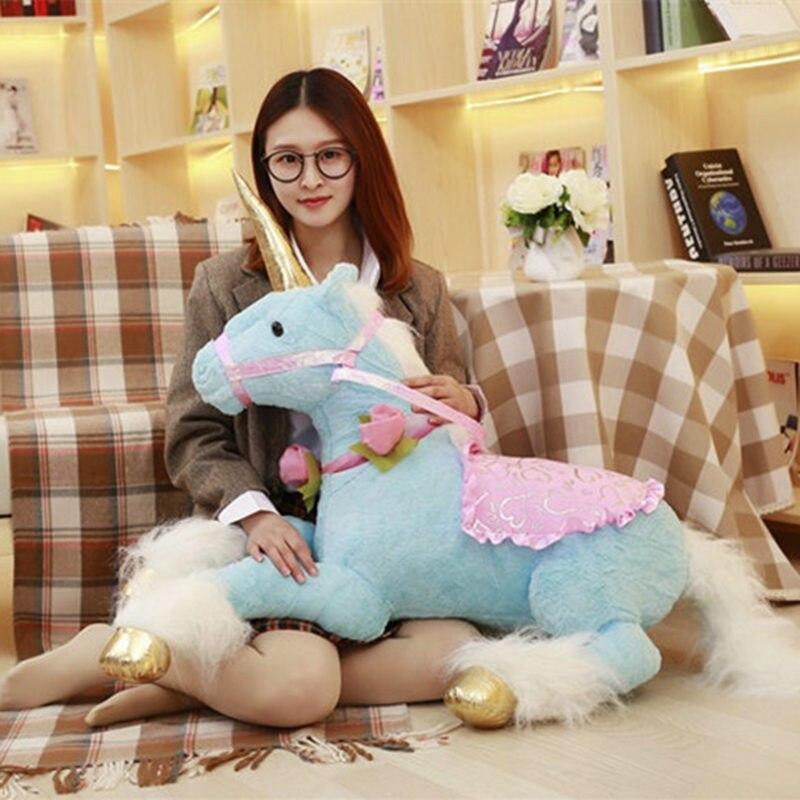 100 cm grand Kawaii licorne jouets en peluche animaux en peluche peluche licorne cheval poupée jouets doux oreiller cadeaux d'anniversaire enfants filles jouets