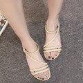 Горячая Продажа Женщины Лето Вьетнамки Weave Сандалии Обувь Домашние Сандалии Пляж Высокое Качество Плоские Туфли Случайные Женщины Способа Подарка