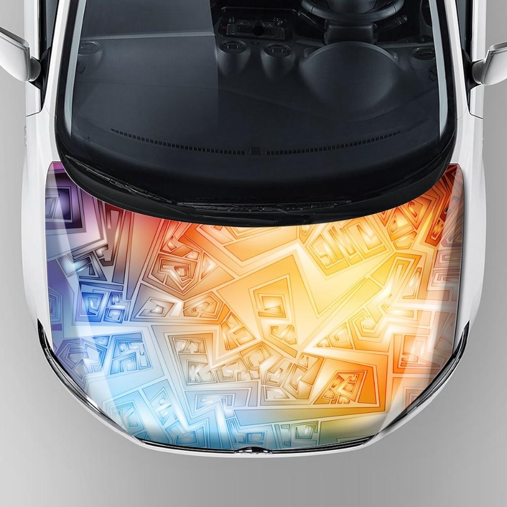 все цены на hot sale car accessories 2017 car decal vinyl sticker decals hood bonnet protection wrap film with reusable removable adhesive онлайн