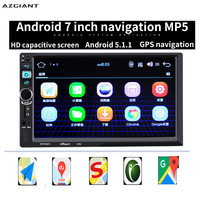 AZGIANT 7 2 Din Android Car Radio Universal GPS Navigation Bluetooth WiFi Autoradio Stereo FM Audio Steering MP5 MP4 MP3 Player