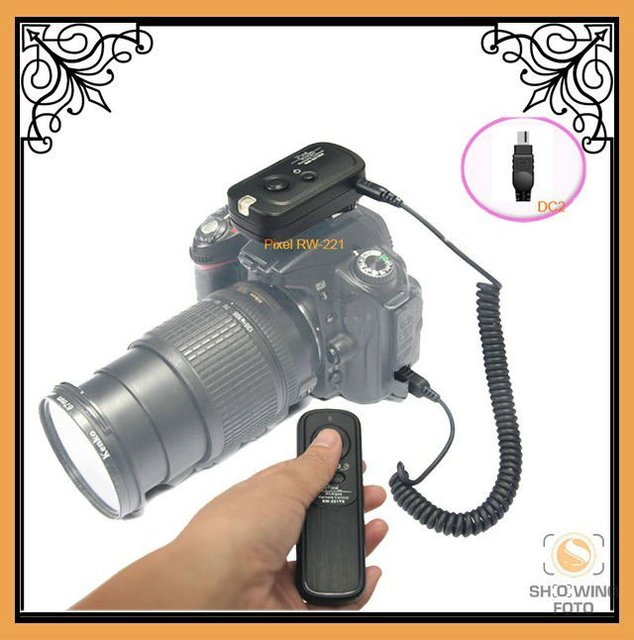 camera shutter release/ Pixel Radio Wireless SLR Remote Control RW-221/DC2 for Nikon D90, D5000, D7000, D3100, D5100