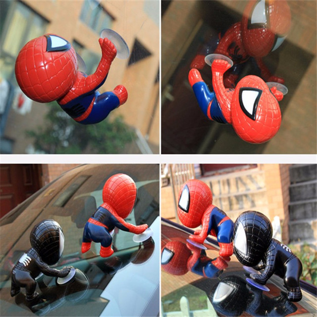Climbing Sucker Spider man Action Figure Toy Head Rotatable Spider-Man  Homecoming Car Home Interior Decoration BN005