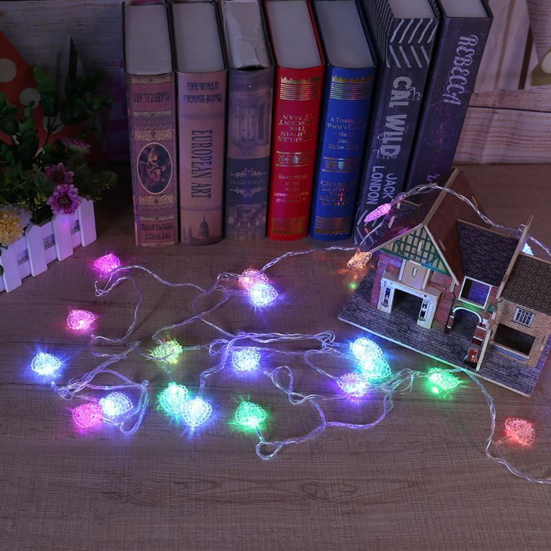Intellective Eu Plug 220v 5.5m Ball Pentagram Cherry Shape Led String Lights Christmas Tree Fairy Light Indoor Home Xmas Party Wedding Decor Refreshment Lighting Strings Lights & Lighting
