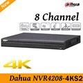O envio gratuito de new h.265 nvr4208-4ks2 8 canais dahua 1080 p suporte 2 sata III Porta até 6 TB de capacidade para cada HDD 2 USB