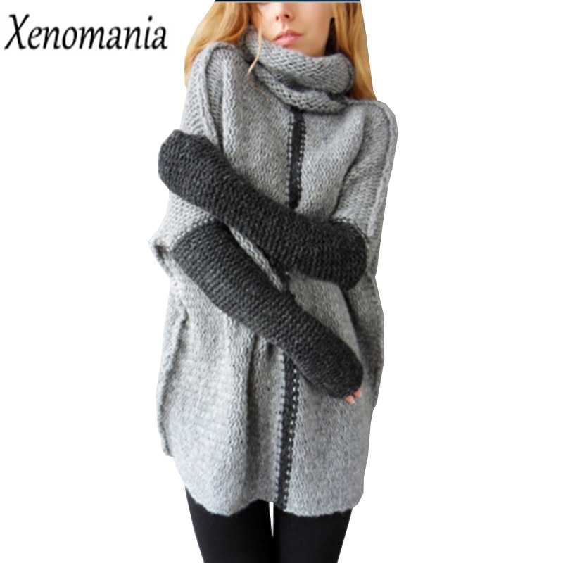 Pull Femme Christmas Sweater Women Sweaters And Pullovers Turtleneck Autumn 2017 Jumper Jersey Sueter Knitted Oversized Sweater