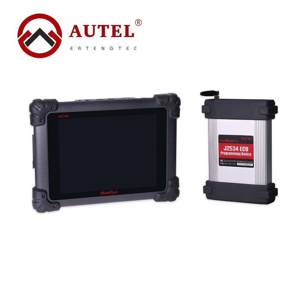Autel maxisys pro ms908p automóvil caja de sistema con la reprogramación j2534 ecu herramienta de programación de diagnóstico actualización onlie