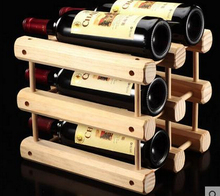 1PC DIY Creative Foldable wine rack Wooden Wine Beer Bottle Rack Organizer Holder Mount Kitchen Bar Display Racks JA 0309