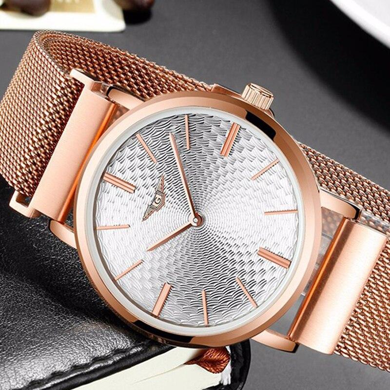 GUANQIN GS19026 relogio masculino часы Для мужчин ультра тонкий кварцевые часы Полный Сталь Для мужчин s часы лучший бренд класса люкс Повседневное наручны...