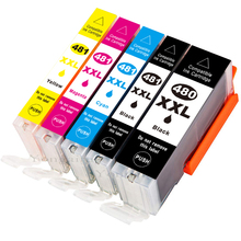 Compatible Ink Cartridge Replacement for CANON PGI-480XXL CLI-481XXL 5PACK TS704 PIXMA TS6140 TS8140 TS9140 TR7540