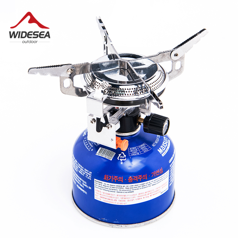 Widesea Lighter Gas Burner Camping Stove Fire Starter Propane Butane Outdoor Stove Cylinder Tourist Equipment Hiking Fishing