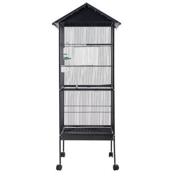"""61"""" Large Bird Cage Play Top Pet Supply 4 Strong Swivel Casters Powder-coated and Non-toxic Pet Cage Slide-out Trays PS6188"""