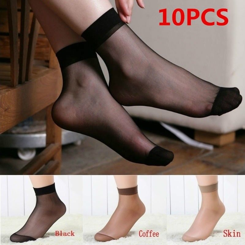 5Pairs Transparent Sexy Low Cut Ankle Socks Design Sock Women Summer Boat Short Socks Ice Silk Office Lady Casual Rayon