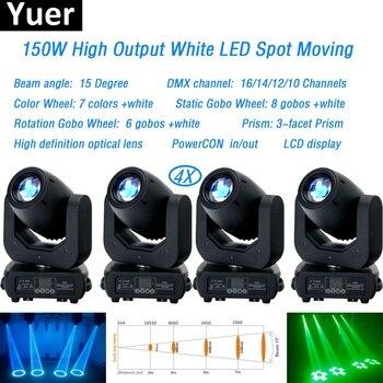 4 sztuk/partia 150W LED spot ruchome światło głowy dmx512Led Stage Bar światła do mycia wiązki Disco DJ Party Stage efekt sprzęt oświetleniowy