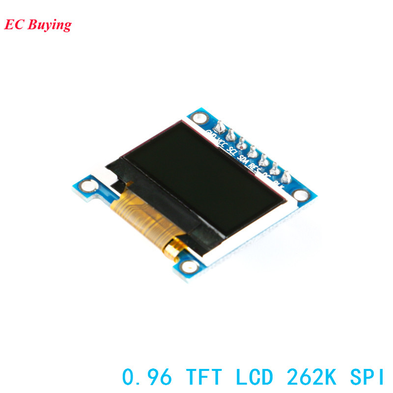 0.96 Inch TFT LCD Module for Arduino 7Pin 262K SPI OLED Display Board 128*64 STM32 ST7735S 4-Wires DIY Electronic ...
