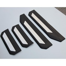 4PCS PEDAL DOOR SILL ENTRY GUARD SCUFF PLATE ACCESSORIES FOR HONDA VEZEL HRV HR-V 2014 2015 2016
