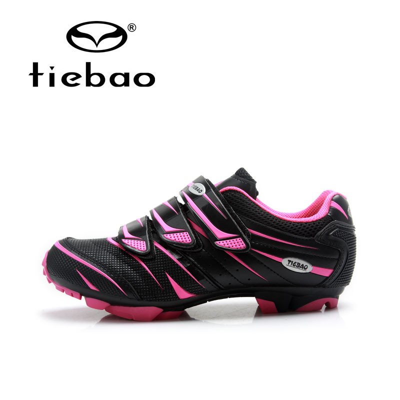 Tiebao Professional Women Mountain Bike Shoes Soft Breathable Cycling Shoes Non-slip MTB Bicycle Shoes Zapatos de ciclismo 10pcs tivdio call coaster pager receiver for wireless restaurant paging queuing system calling pager system 433mhz f4427a