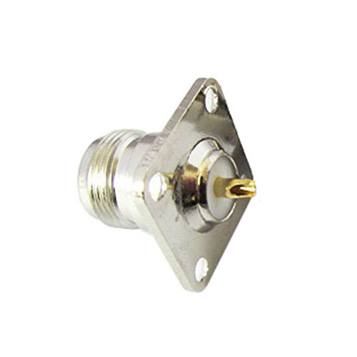 N type female jack RF coax connector 4-hole panel mount with solder cup,silver стоимость