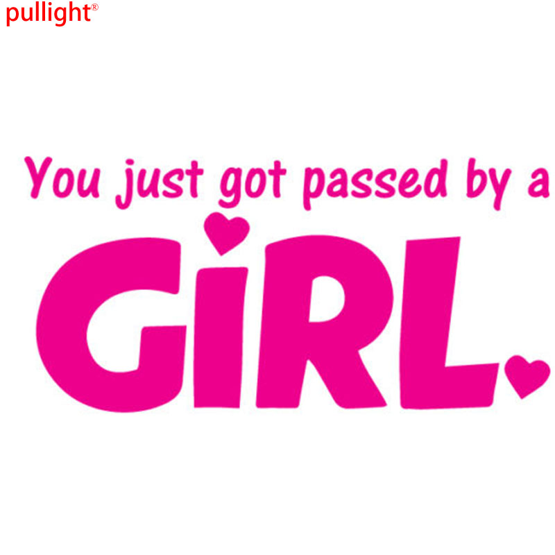 YOU GOT PASSED BY A GIRL Funny Car Bumper Vinyl Decal Sticker