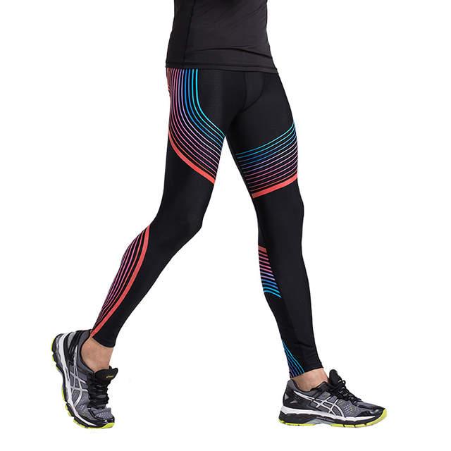 4e62e53e603 Men s Compression Pants Running Tights Basketball Gym Pants Bodybuilding  Jogger Jogging Skinny Leggings Trousers Sportswear