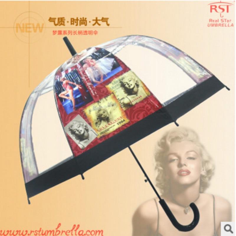 Şemsiye Yağmur Kadınlar Uzun Saplı Şemsiye Mantar PVC Parapluie - Ev Eşyaları