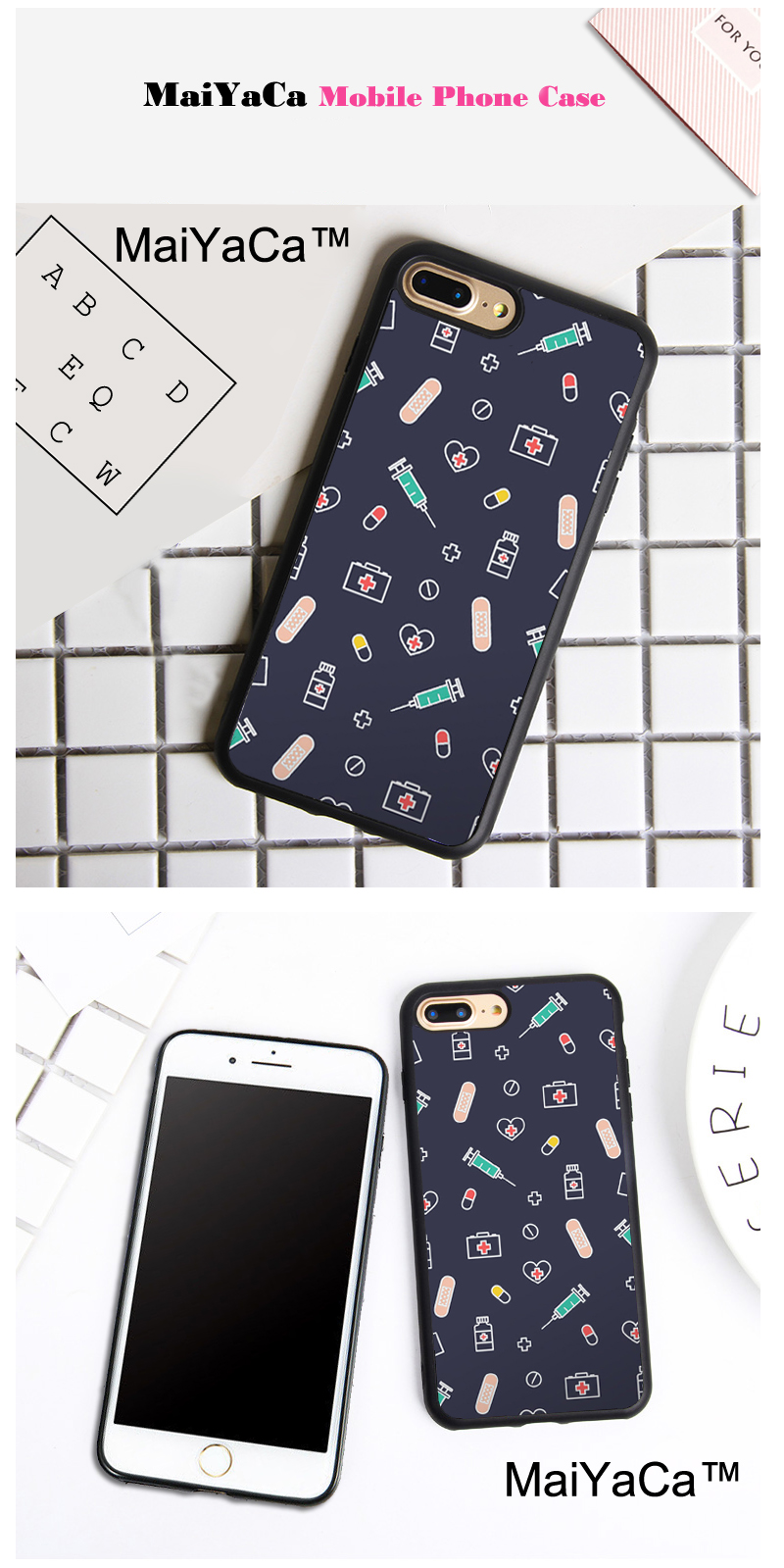 Half-wrapped Case Maiyaca New Medical Industry Doctor Nurse Teeth Occupation Phone Case For Iphone 8 7 6 6s Plus 5 5s Se Xr X Xs Max Coque Shell