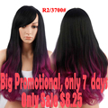 Ombre Wig Synthetic Wigs For Black Women With Bangs Long Curly Hair Natural Cheap Wig For Women Sale