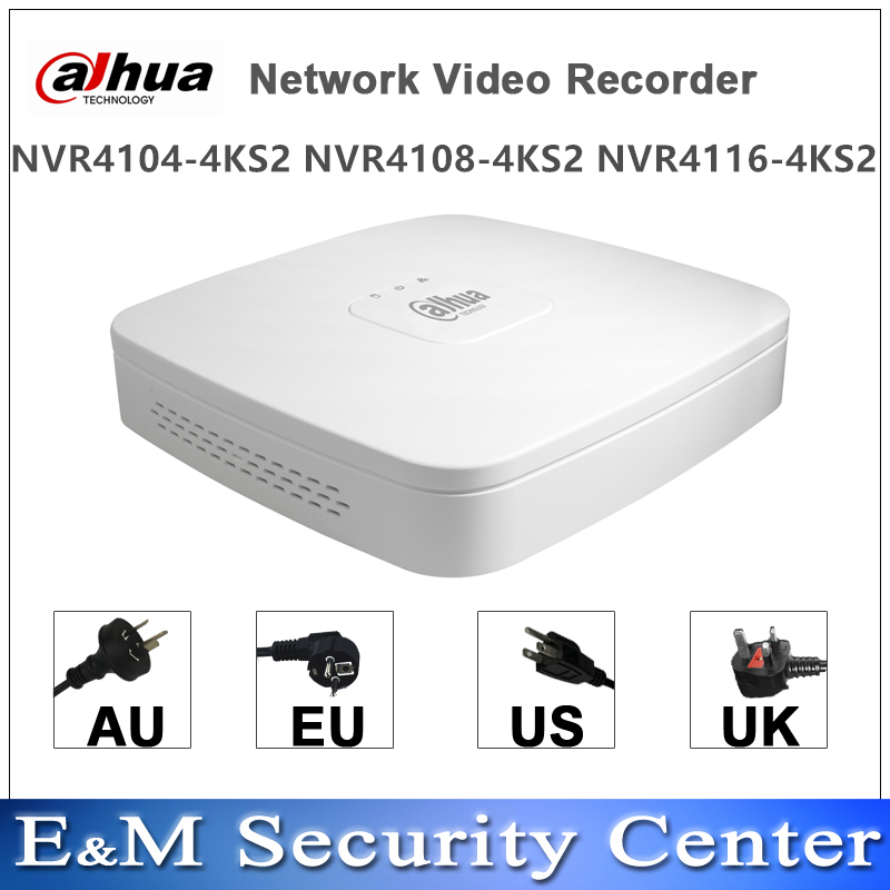 Original dahua english version mini NVR 4 8CH 1U Network Video Recorder NVR4104 4KS2 NVR4108 4KS2