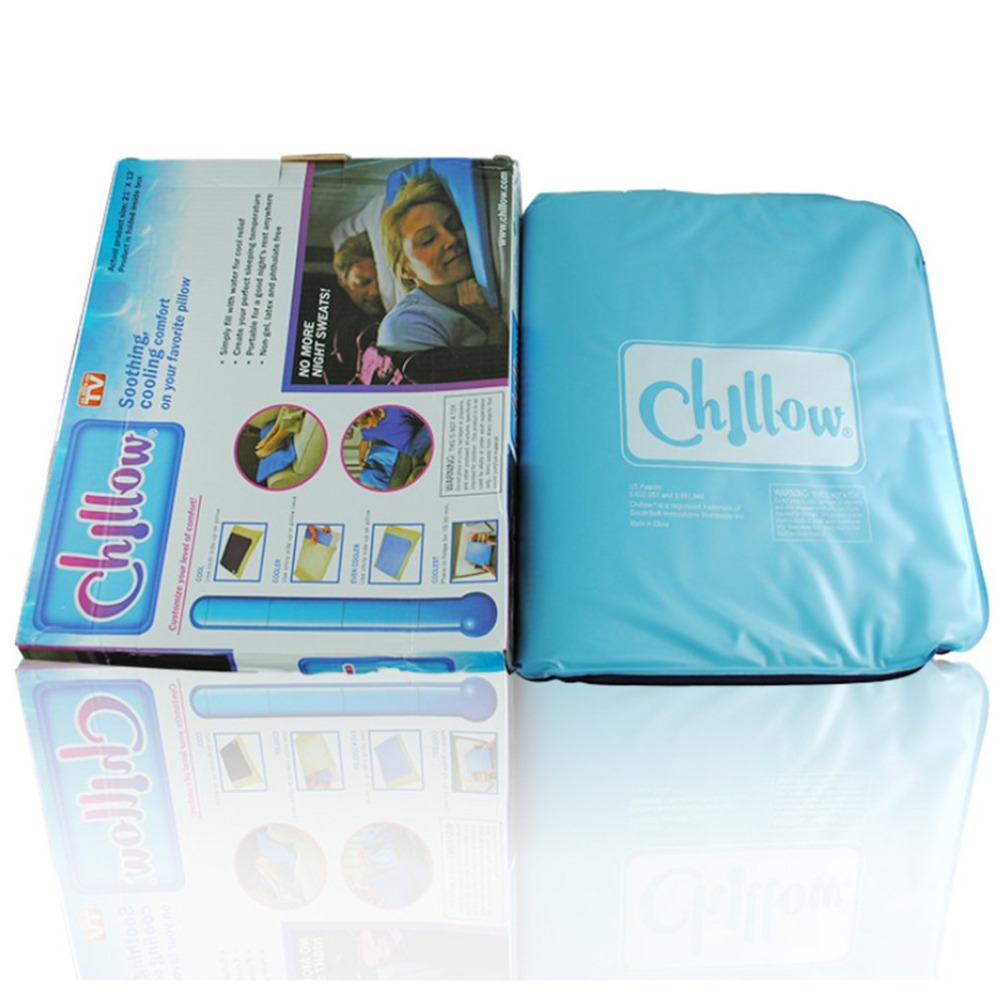 Chillow Pad Mat Muscle Relief Cooling Gel Pillow Summer Ice Pad Massager Therapy Sleeping Aid Insert Hot Selling