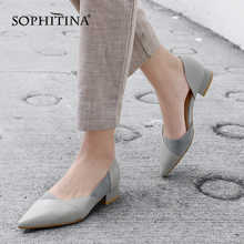 SOPHITINA Fashion Patchwork Women's Flats High Quality Genuine Leather Comfortable Shoes Slip-on Pointed Toe Shallow Flats MO160