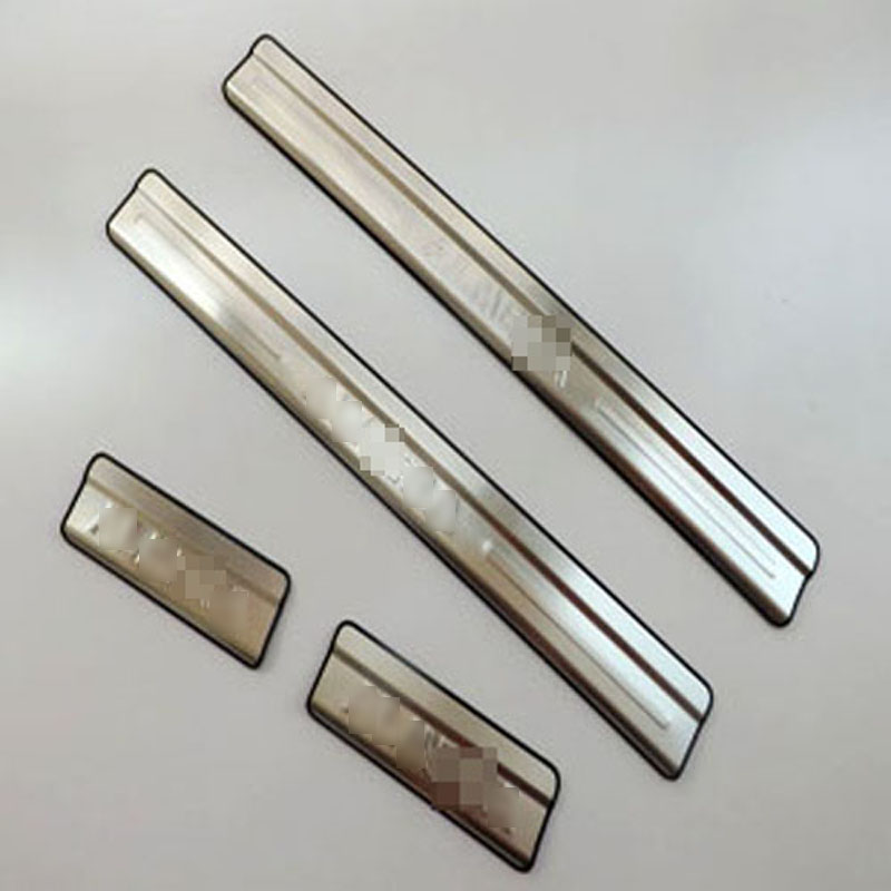 For Nissan Almera stainless steel door sill scuff plates strip 2012 New welcome pedal 4pcs/set