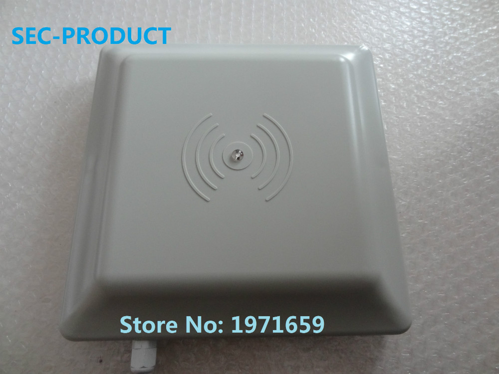 Low price for 5pcs 6 Mlong rang UHF RFID card reader with interface RS232/RS485/Wiegand Reader / road parking RFID reader