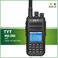 100% Original Versão Mais Recente Tecnologia TMDA DMR Digital Two-way Rádio Portátil VHF TYT MD-380 com Cabo e Software