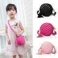 2016 Coreano das crianças das crianças Princesa circular sacos de ombro do bebê meninas bolsas de Ombro Único Saco Saco Do Mensageiro