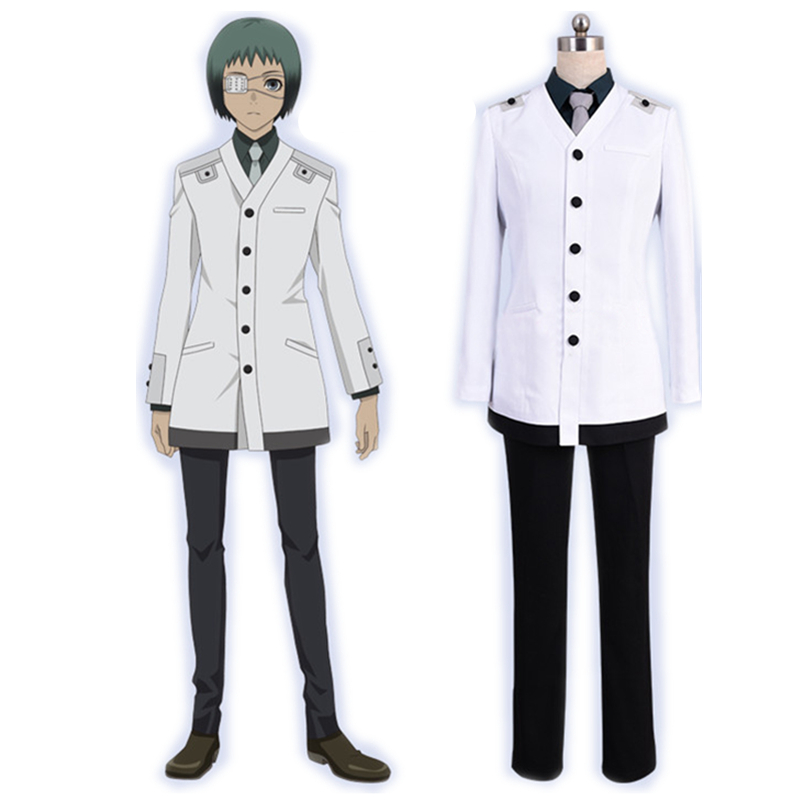 Anime Tokyo Ghoul RE Cosplay Costume Re Mutsuki Toru Uniform Adult Outfit Halloween Cosplay Costume with Eye mask