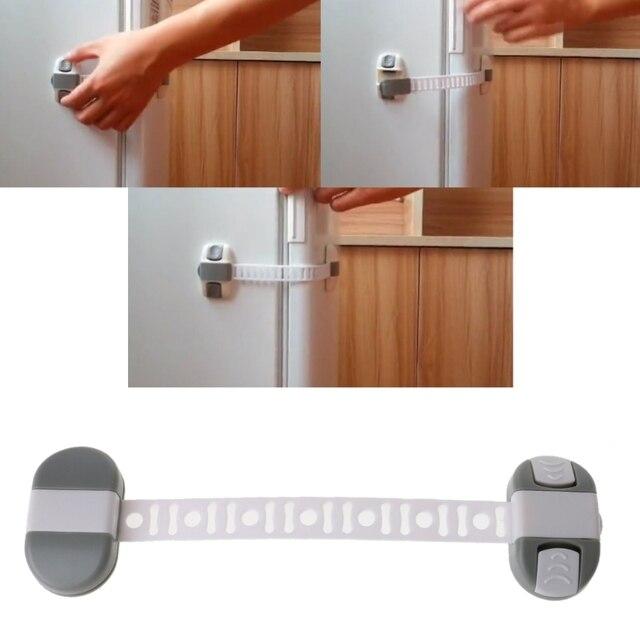 Abs Adjule Child Safety Lock Protection Drawer Cabinet Refrigerator Locks Straps 2018
