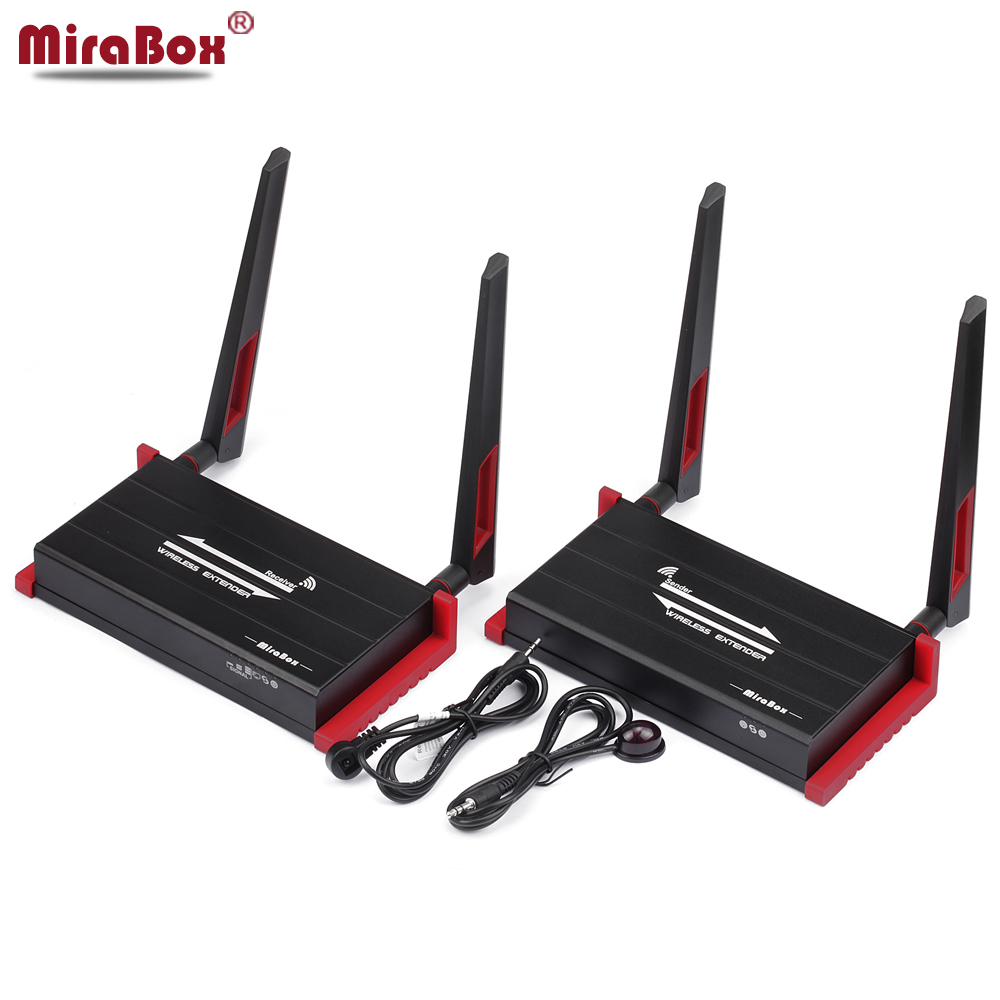 MiraBox 300m (984ft) Wireless HDMI Extender With IR Remote Control Support 1080P HDMI Wireless Extender 300m Sender Receiver 580hdmi 5 8ghz ir remote extender 300m hdmi wireless av transmitter