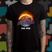 Black Sabbath The End Tour Logo Heavy Metal Band Men's Black T-Shirt Size S-3XL Men T Shirt Cheap Sale 100 % Cotton