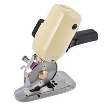 Máquina de corte de cuchillo redondo eléctrico CZ-Y105, 4 pulgadas, tijeras para ropa, papel de tela de cuero, máquina de corte de tela manual, 220v, 150W
