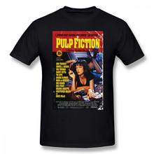 Pulp Fiction T Shirt Pulp Fiction T-Shirt Short-Sleeve 100 Percent Cotton Tee Shirt Funny Streetwear Graphic Man Tshirt(China)