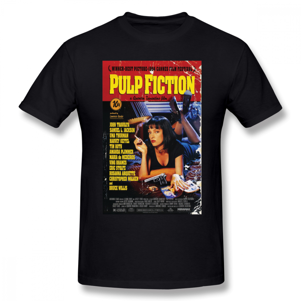 Pulp Fiction   T     Shirt   Pulp Fiction   T  -  Shirt   Short-Sleeve 100 Percent Cotton Tee   Shirt   Funny Streetwear Graphic Man Tshirt