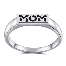 New Arrival Promotion Sale Mommy Rings 925 Silver Simple Seal for Mom Gifts Jewelry