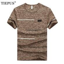 TIEPUS plus tamaño 7XL… 8XL… 9XL de marca de verano t camisa de los hombres de algodón de moda rápido seco Slim Fit Camiseta Hombre de manga corta Camisetas y Tops
