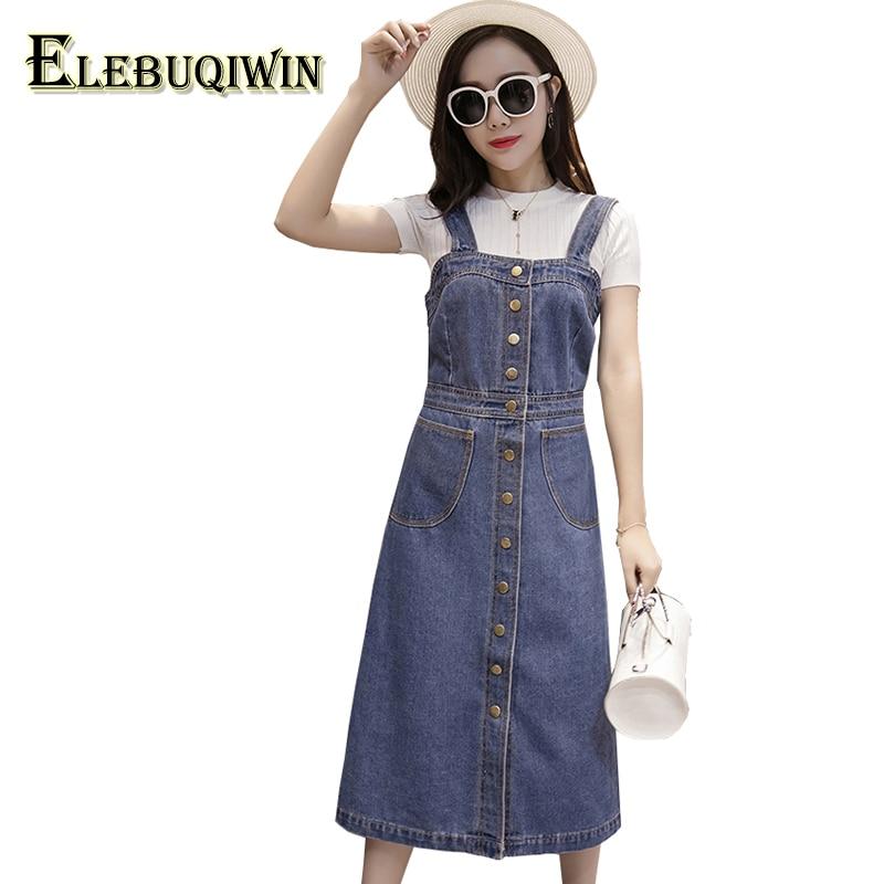 Nyári női farmer ruhák 2018 nagy méretű női ruha magas derék - Női ruházat