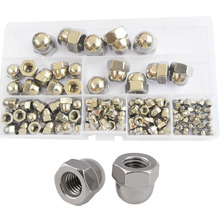 Acorn Cap Nut Metric Hexagon Threaded Hex Decorative Cover 304Stainless Steel Set Assortment Kit M3 M4 M5 M6 M8 M10